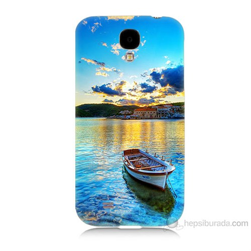 Teknomeg Samsung Galaxy S4 Gün Batımında Deniz Baskılı Silikon Kılıf