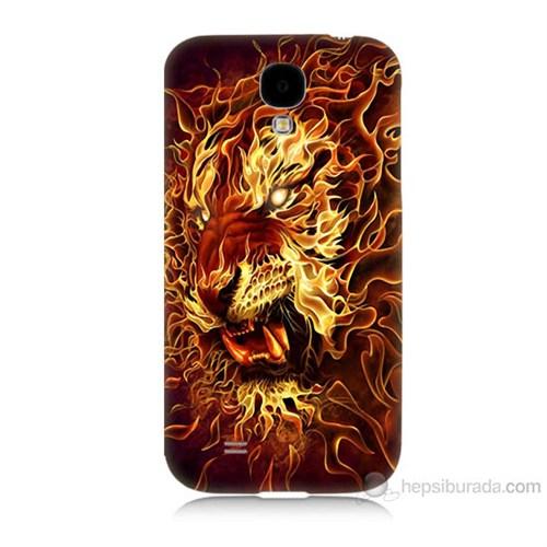 Teknomeg Samsung Galaxy S4 Ateşli Aslan Baskılı Silikon Kılıf