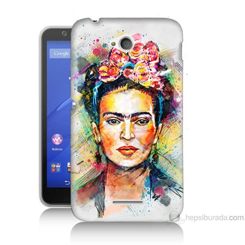 Teknomeg Sony Xperia E4G Frida Baskılı Silikon Kılıf