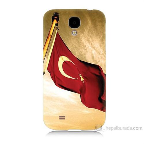 Teknomeg Samsung Galaxy S4 Türk Bayrağı Baskılı Silikon Kılıf