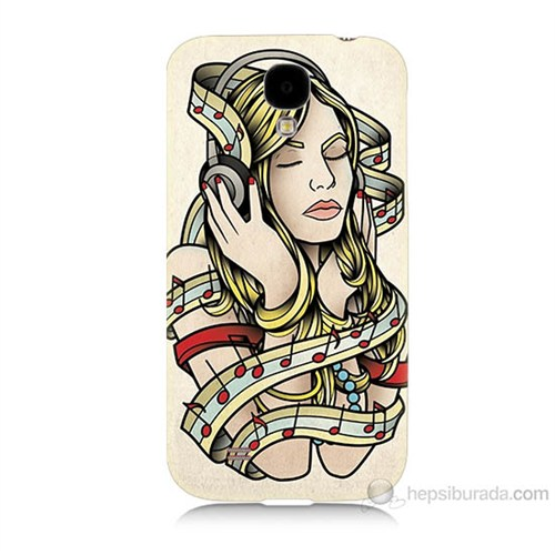 Teknomeg Samsung Galaxy S4 Müzik Aşkı Baskılı Silikon Kılıf