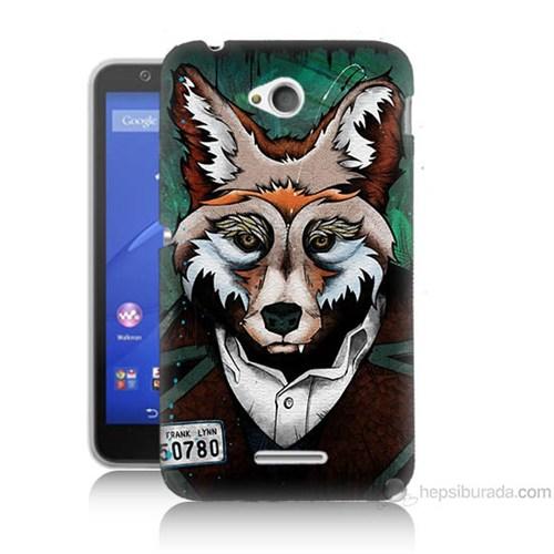 Teknomeg Sony Xperia E4G Bad Wolf Baskılı Silikon Kılıf