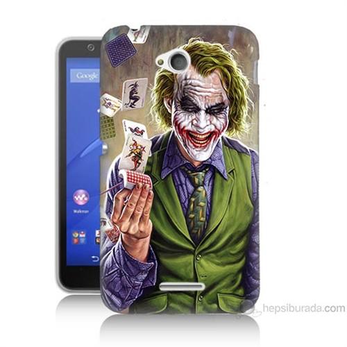 Teknomeg Sony Xperia E4G Kartlı Joker Baskılı Silikon Kılıf