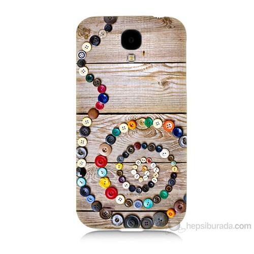 Teknomeg Samsung Galaxy S4 Düğmeler Baskılı Silikon Kılıf