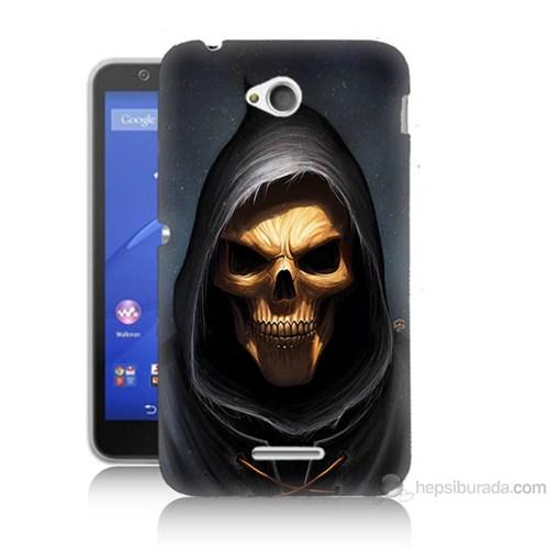 Teknomeg Sony Xperia E4G Ölüm Meleği Baskılı Silikon Kılıf
