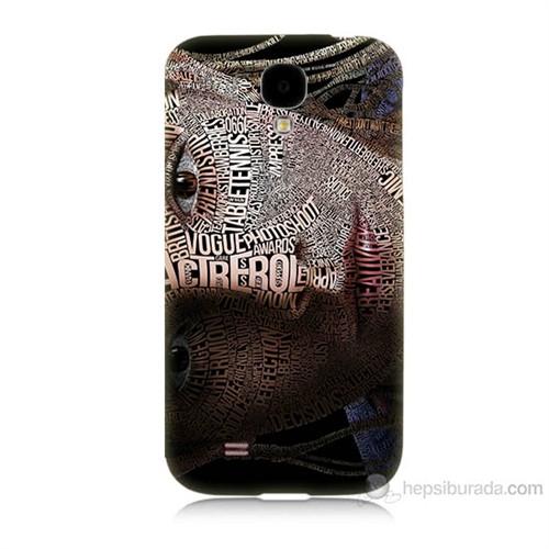Teknomeg Samsung Galaxy S4 Yazılı Kadın Baskılı Silikon Kılıf