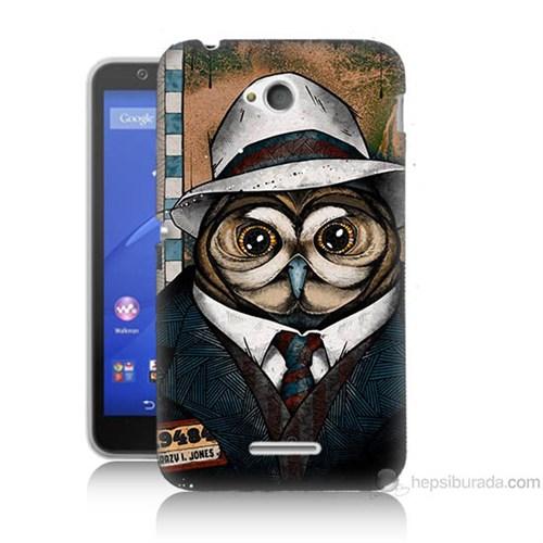 Teknomeg Sony Xperia E4G Crazy Jones Baskılı Silikon Kılıf
