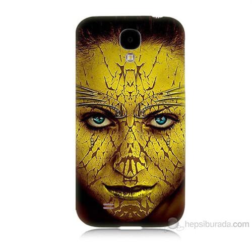 Teknomeg Samsung Galaxy S4 Sarı Kız Baskılı Silikon Kılıf