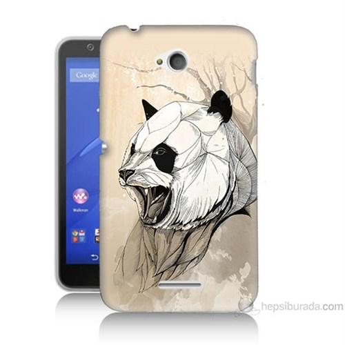 Teknomeg Sony Xperia E4G Kavgacı Panda Baskılı Silikon Kılıf