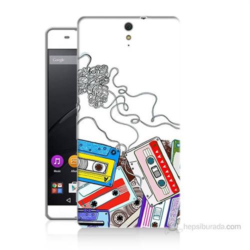 Teknomeg Sony Xperia C5 Kasetler Baskılı Silikon Kılıf