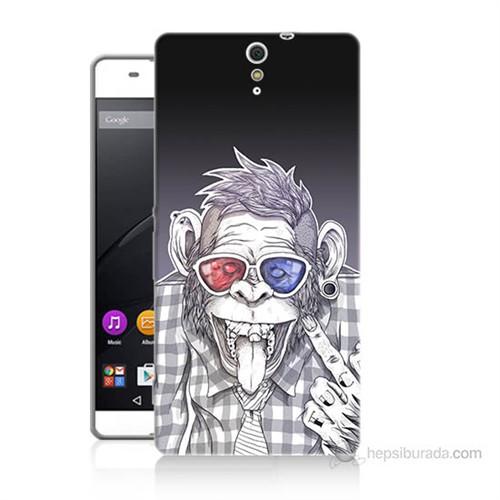 Teknomeg Sony Xperia C5 Maymun Baskılı Silikon Kılıf