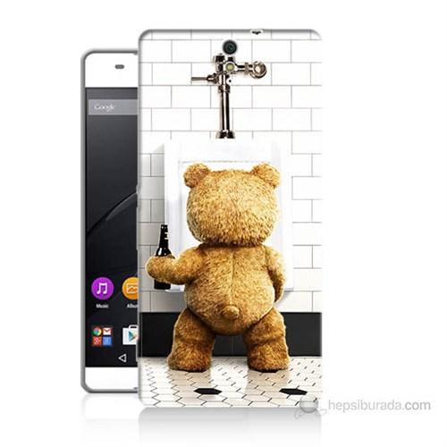 Teknomeg Sony Xperia C5 Tedy Bear Baskılı Silikon Kılıf