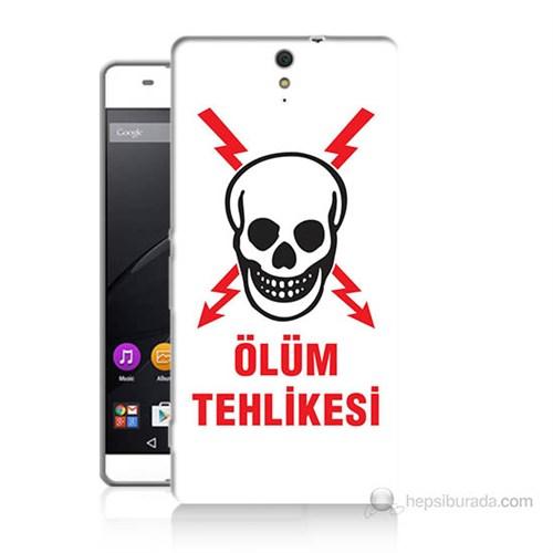 Teknomeg Sony Xperia C5 Ölüm Tehlikesi Baskılı Silikon Kılıf