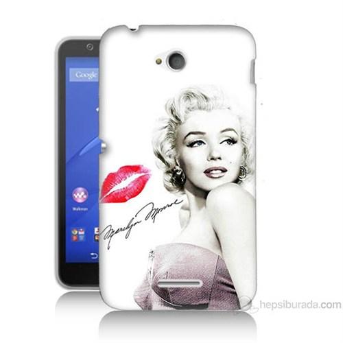 Teknomeg Sony Xperia E4G Marilyn Monroe Baskılı Silikon Kılıf