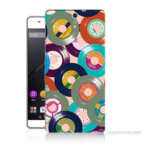 Teknomeg Sony Xperia C5 Renkli Plaklar Baskılı Silikon Kılıf