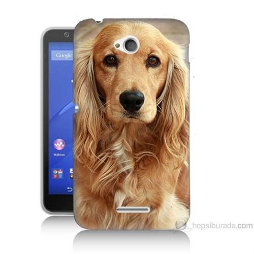 Teknomeg Sony Xperia E4G Köpek Baskılı Silikon Kılıf