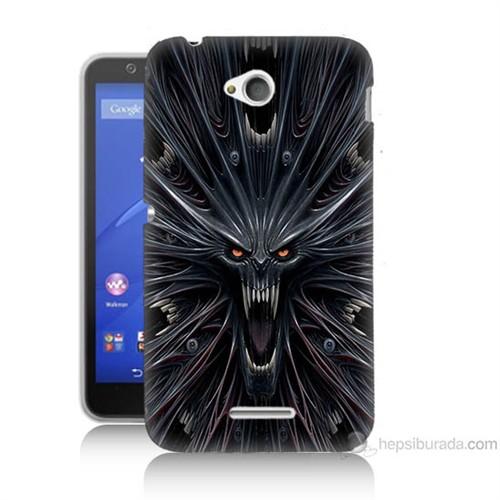 Teknomeg Sony Xperia E4G Korku Canavarı Baskılı Silikon Kılıf
