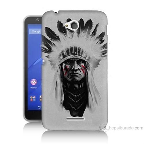 Teknomeg Sony Xperia E4G Geronimo Baskılı Silikon Kılıf