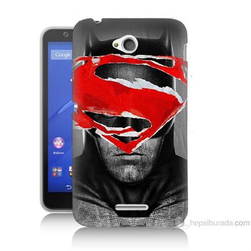 Teknomeg Sony Xperia E4G Batman Vs Superman Baskılı Silikon Kılıf