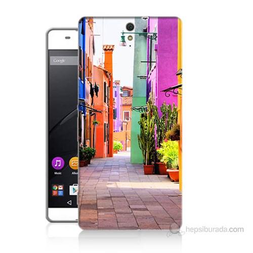 Teknomeg Sony Xperia C5 Sokak Baskılı Silikon Kılıf