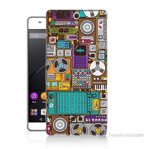 Teknomeg Sony Xperia C5 Teknoloji Baskılı Silikon Kılıf