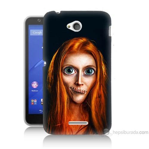 Teknomeg Sony Xperia E4G Zombie Kız Baskılı Silikon Kılıf