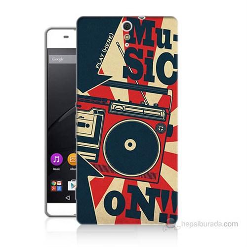 Teknomeg Sony Xperia C5 Müzik Baskılı Silikon Kılıf