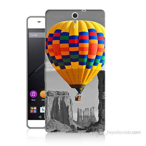 Teknomeg Sony Xperia C5 Renkli Uçan Balon Baskılı Silikon Kılıf