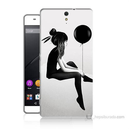 Teknomeg Sony Xperia C5 Balonlu Kız Baskılı Silikon Kılıf