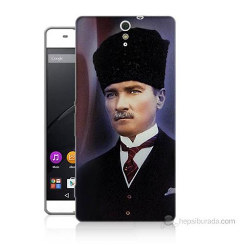 Teknomeg Sony Xperia C5 Mustafa Kemal Atatürk Baskılı Silikon Kılıf