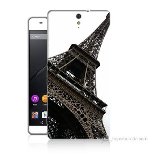 Teknomeg Sony Xperia C5 Eyfel Kulesi Baskılı Silikon Kılıf