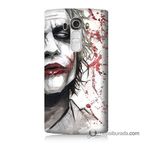 Teknomeg Lg G4 Kanlı Joker Baskılı Silikon Kılıf