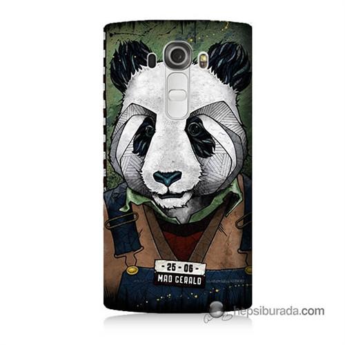 Teknomeg Lg G4 İşçi Panda Baskılı Silikon Kılıf