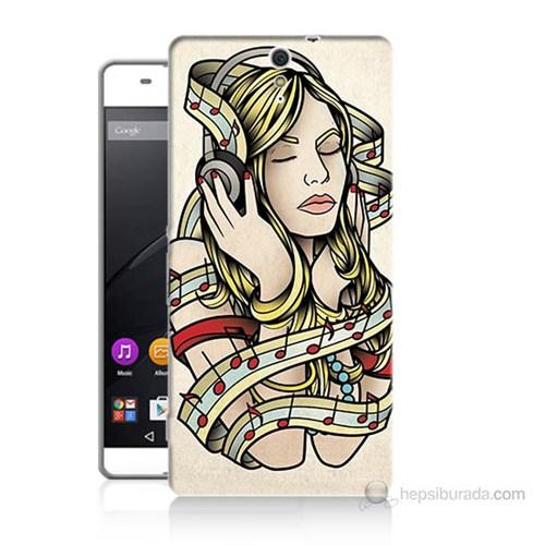 Teknomeg Sony Xperia C5 Müzik Aşkı Baskılı Silikon Kılıf