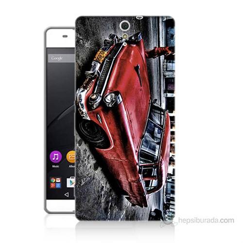 Teknomeg Sony Xperia C5 Klasik Araba Baskılı Silikon Kılıf
