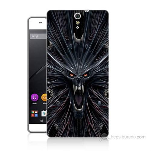 Teknomeg Sony Xperia C5 Korku Canavarı Baskılı Silikon Kılıf
