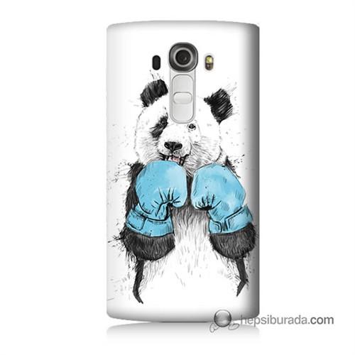 Teknomeg Lg G4 Boksör Panda Baskılı Silikon Kılıf