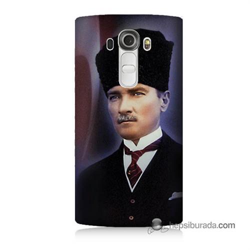 Teknomeg Lg G4 Mustafa Kemal Atatürk Baskılı Silikon Kılıf