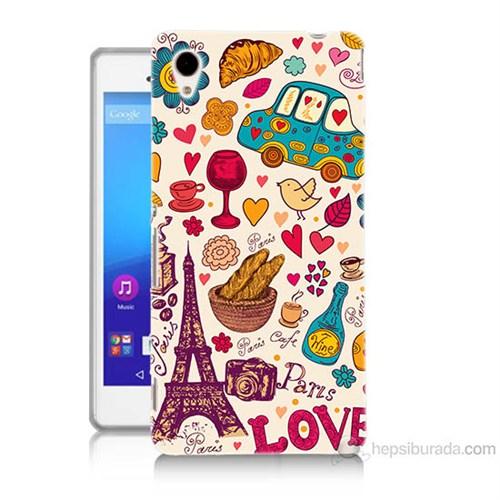 Teknomeg Sony Xperia M4 Paris Love Baskılı Silikon Kılıf