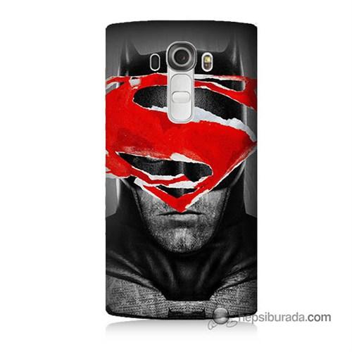 Teknomeg Lg G4 Batman Vs Superman Baskılı Silikon Kılıf