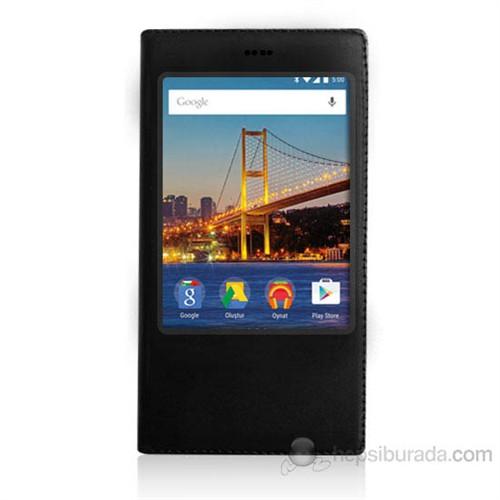 Teknomeg General Mobile Discovery 4G Siyah Pencere Ve Gizli Mıknatıslı