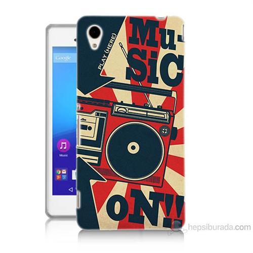 Teknomeg Sony Xperia M4 Müzik Baskılı Silikon Kılıf