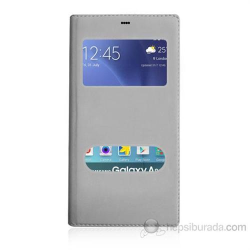 Teknomeg Samsung Galaxy A8 Beyaz Pencere Ve Gizli Mıknatıslı