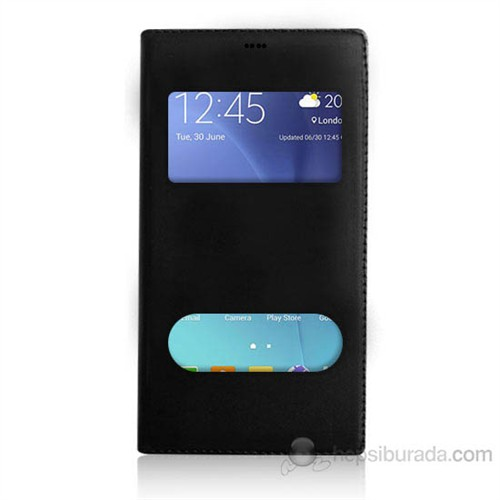 Teknomeg Samsung Galaxy J5 Siyah Pencere Ve Gizli Mıknatıslı