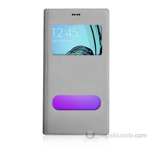 Teknomeg Samsung Galaxy A3 2016 Beyaz Pencere Ve Gizli Mıknatıslı