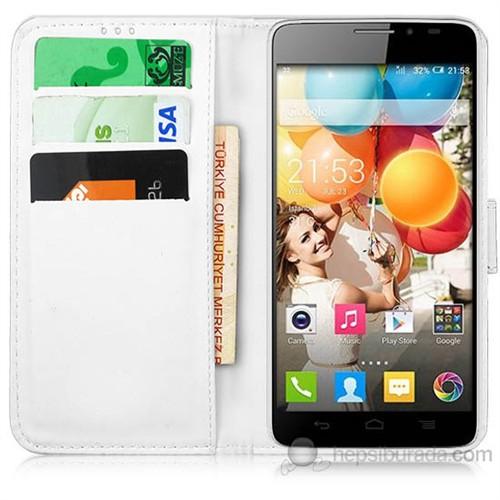 Teknomeg Samsung Galaxy Alpha Beyaz Cüzdan Kılıf Beyaz