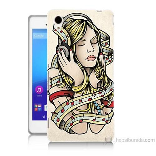 Teknomeg Sony Xperia M4 Müzik Aşkı Baskılı Silikon Kılıf