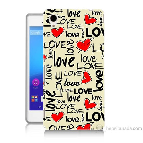 Teknomeg Sony Xperia M4 Aqua Love Baskılı Silikon Kılıf