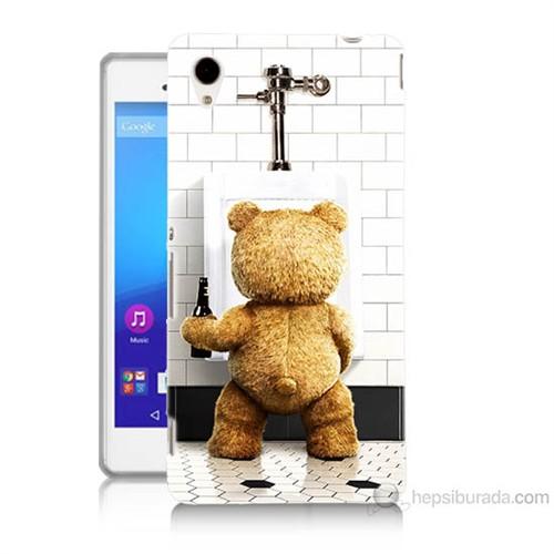 Teknomeg Sony Xperia M4 Aqua Tedy Bear Baskılı Silikon Kılıf