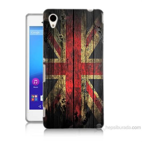 Teknomeg Sony Xperia M4 Aqua İngiliz Bayrağı Baskılı Silikon Kılıf